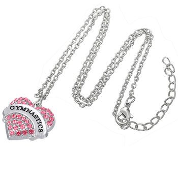 Collier Coeur Pink 95292
