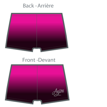 Short de gymnastique en Polyester mat sublimé 3810 F
